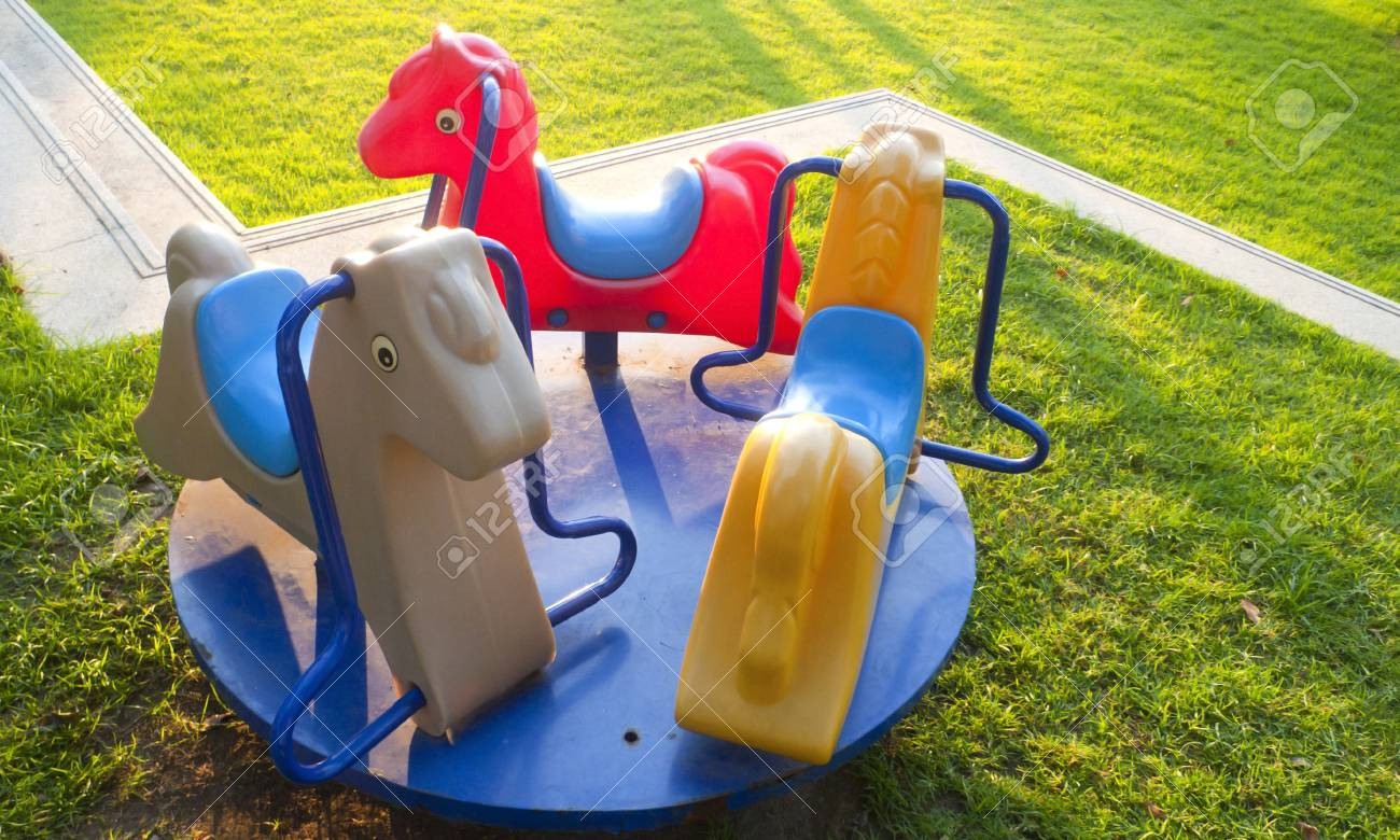 horse toy in the playground Stock Photo - 16885014