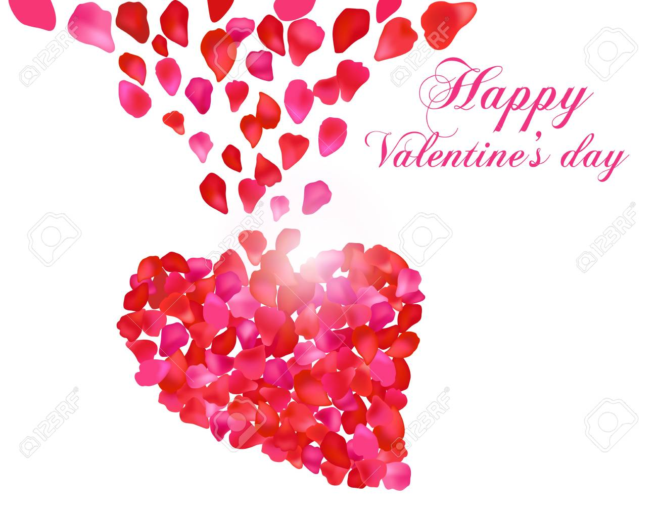 valentine Heart with roses Stock Vector - 17437800
