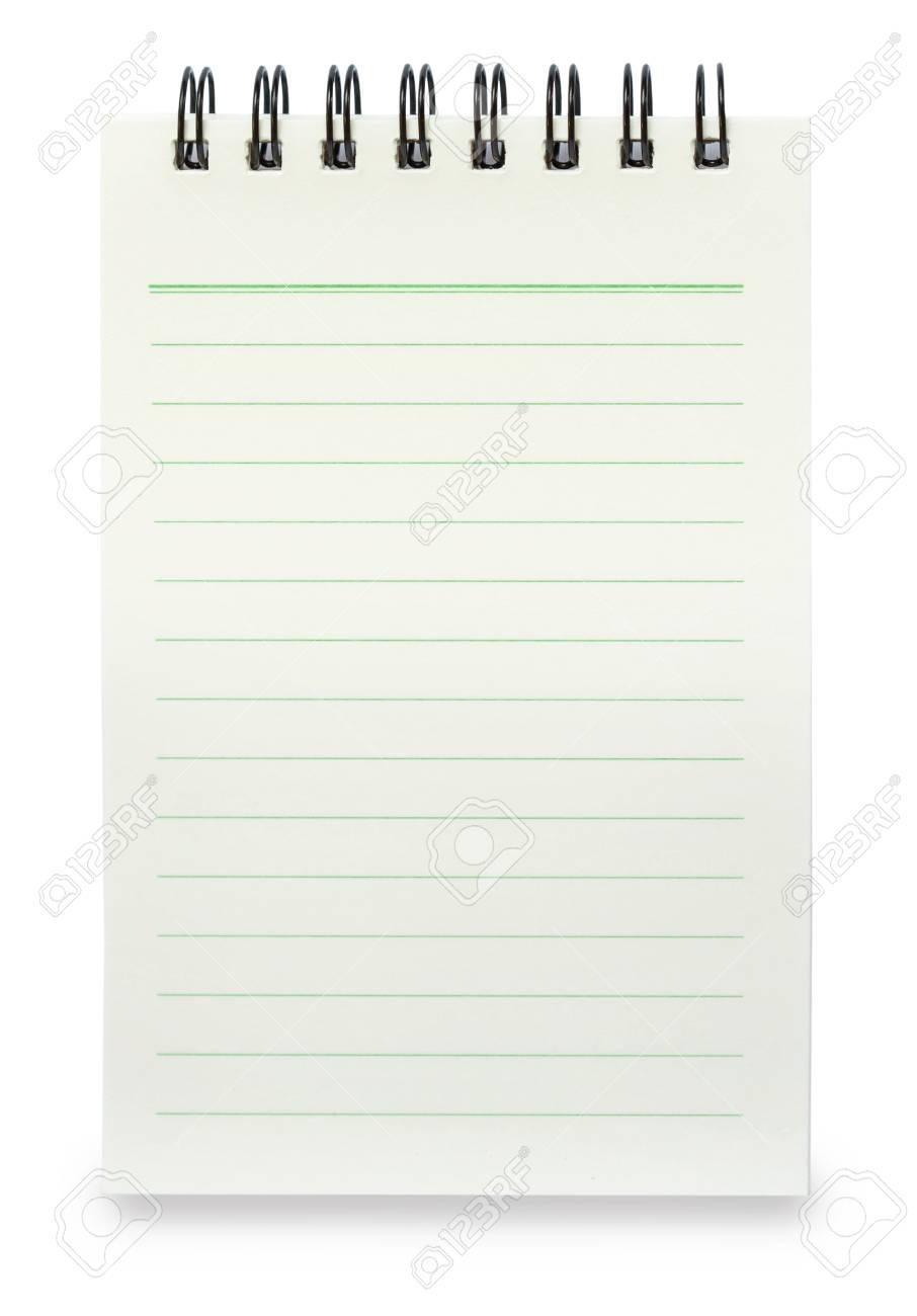 Unbelegtes Gewundenes Notizbuch Mit Dem Linie Papier Getrennt Auf ...