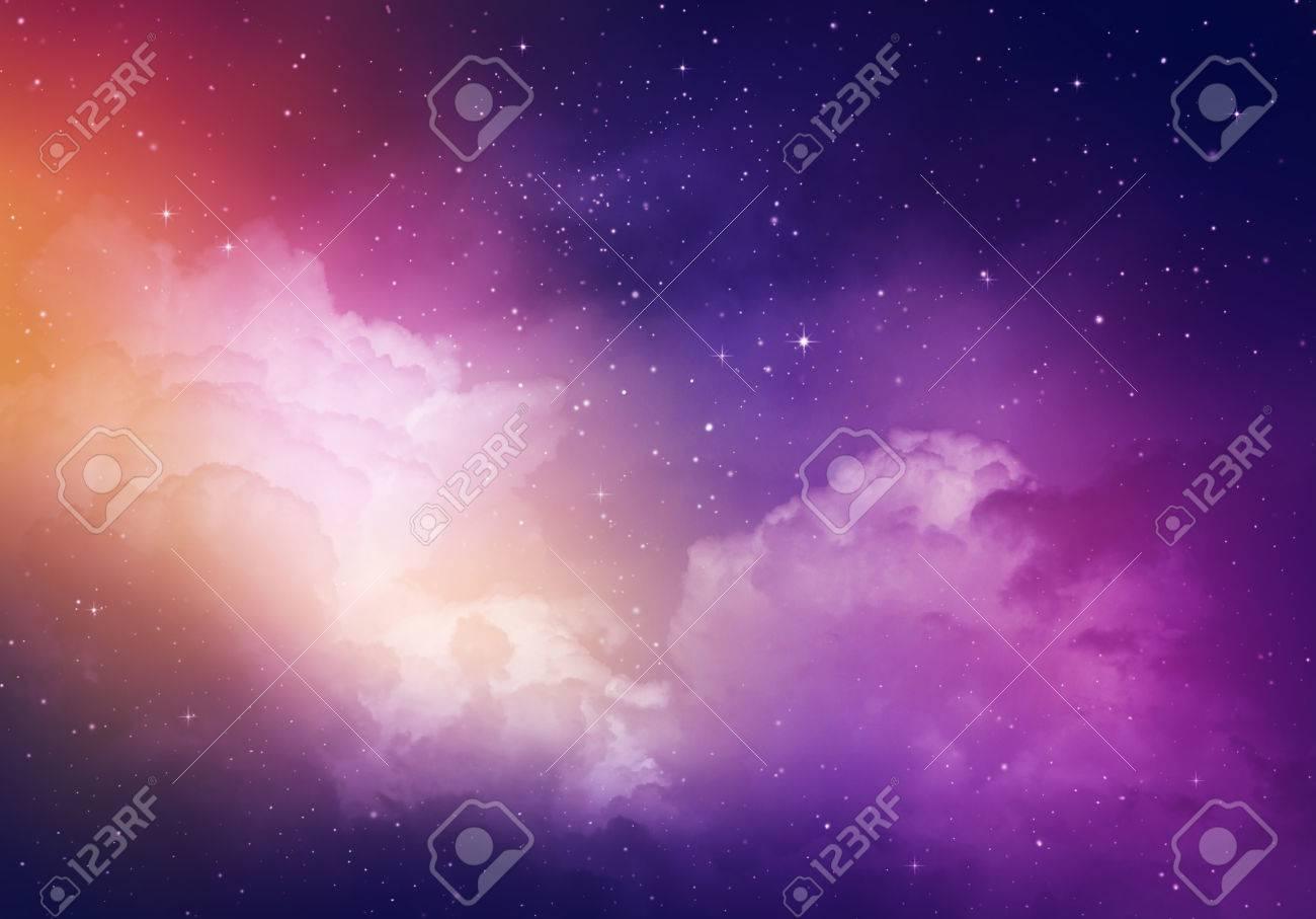 Stars in the night sky,purple background. - 50212184