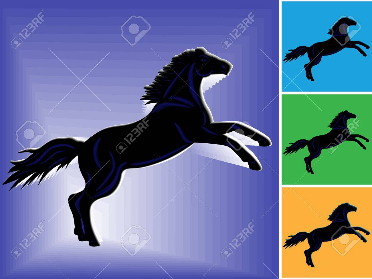 Symbol of 2014 black horse with dark blue stripes on blue and symbol of 2014 black horse with dark blue stripes on blue and other backgrounds hand biocorpaavc Image collections