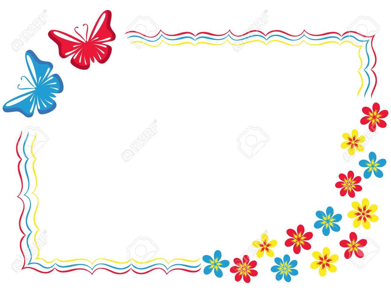 Tarjeta De Felicitación De San Valentín Con Dos Mariposas Y Flores