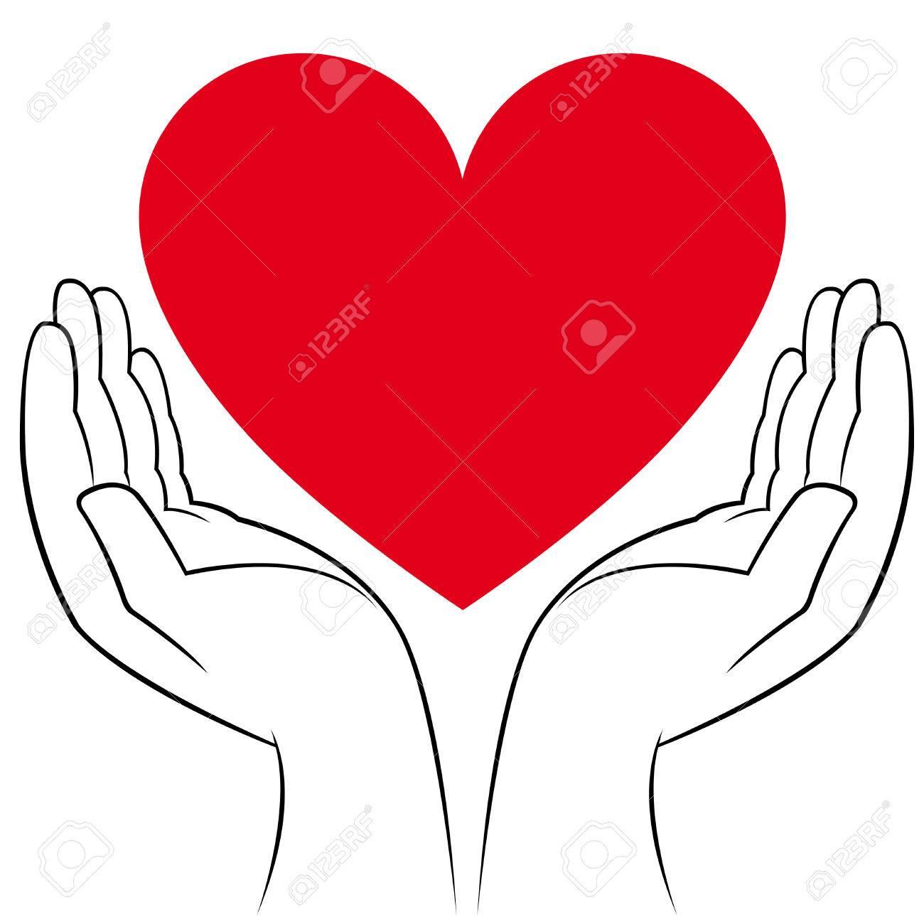 Manos Humanas Sosteniendo Un Corazón Medicina Y Voluntariado