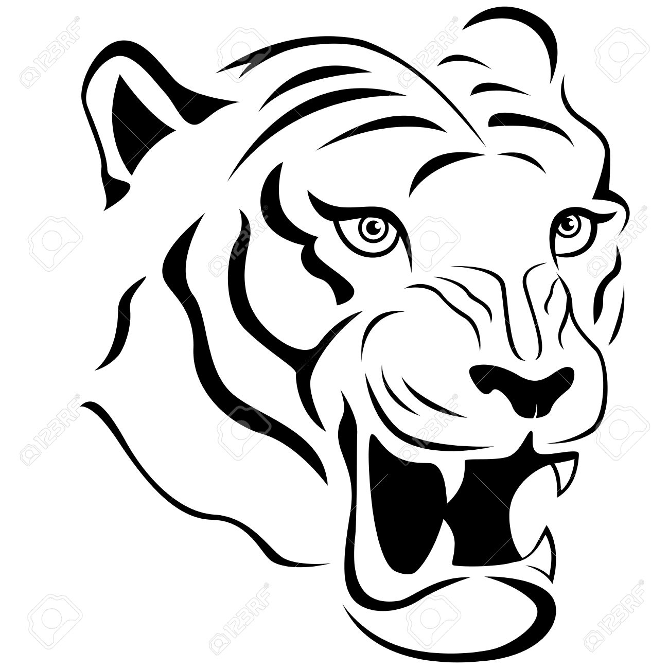 Dessin De Tête De Tigre