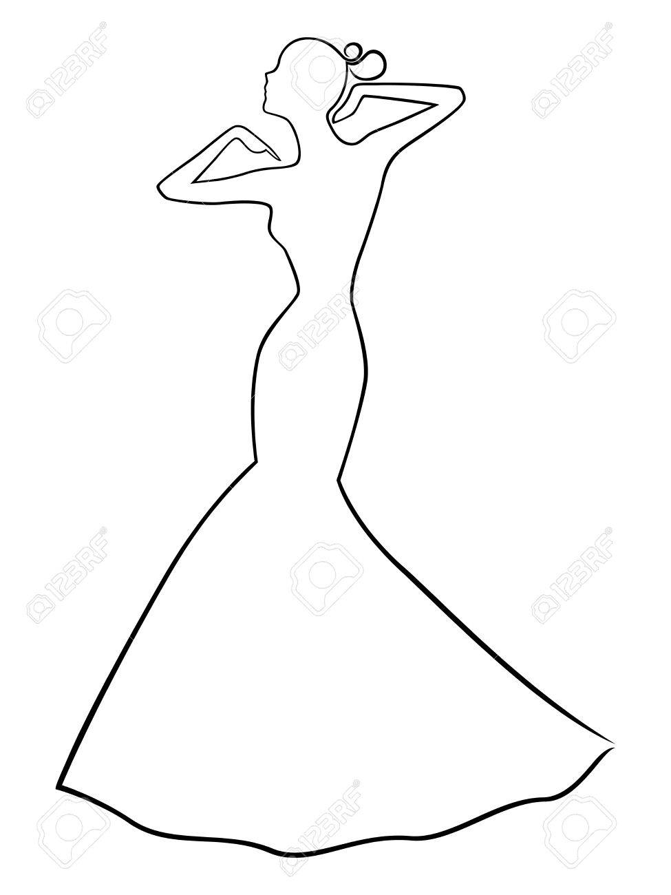Dress in woman outline fotos