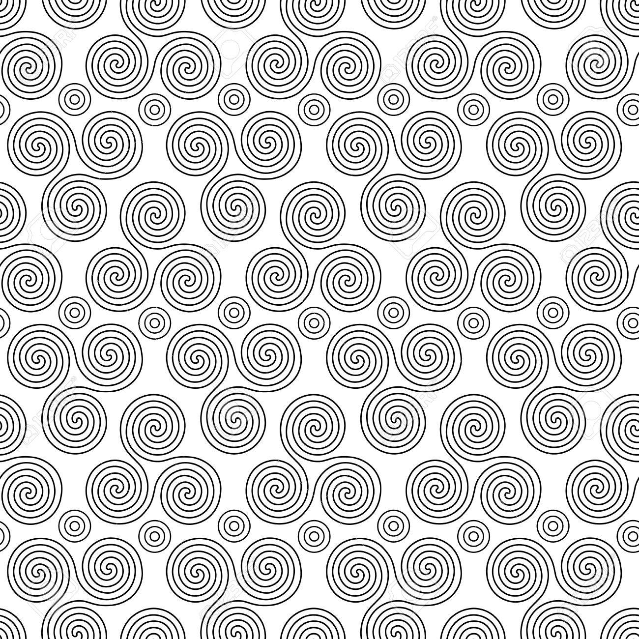 Seamless vector pattern with circles and swirling triple spiral seamless vector pattern with circles and swirling triple spiral or triskele a complex ancient celtic buycottarizona Images