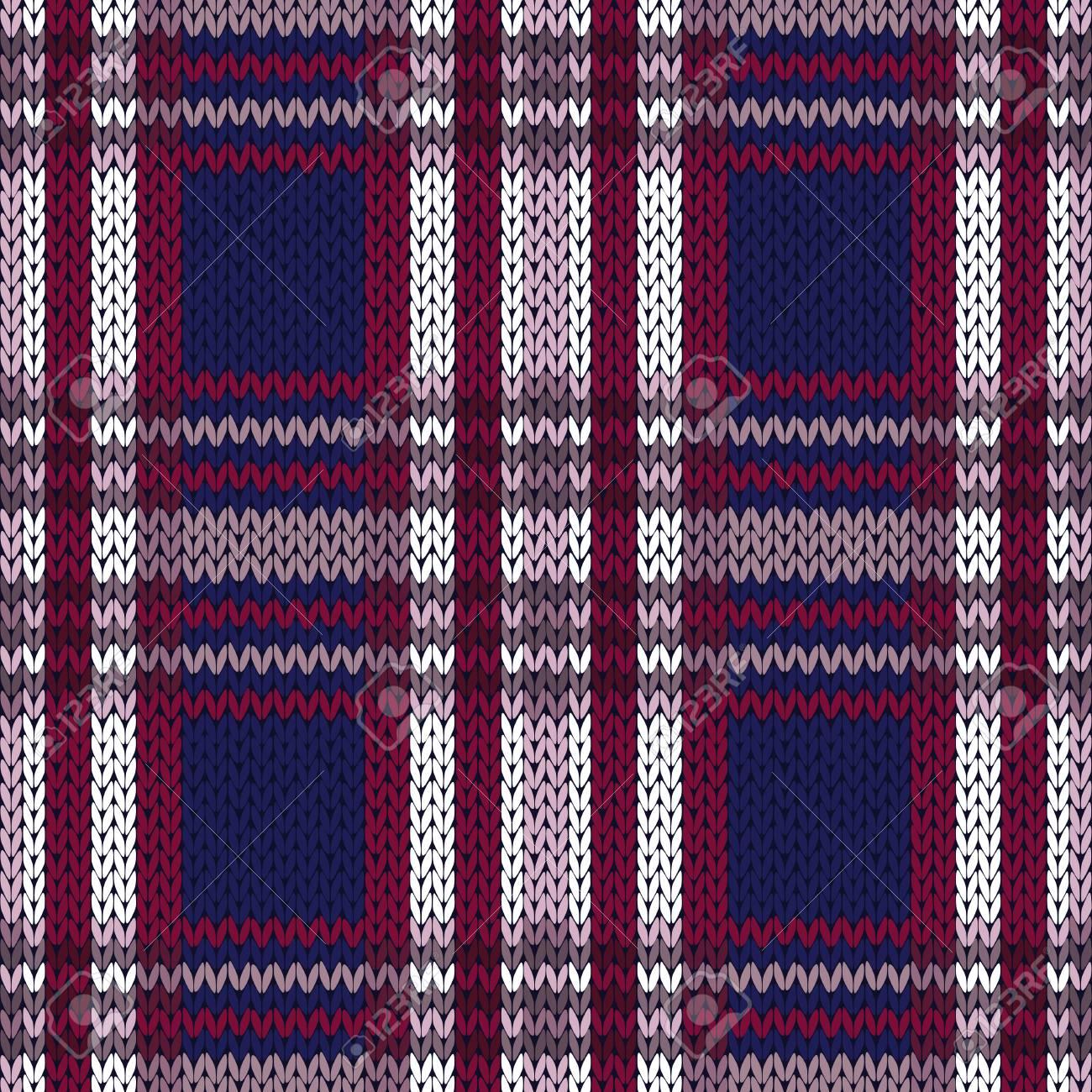Seamless Knitted Vector Pattern As A Woollen Celtic Tartan Plaid