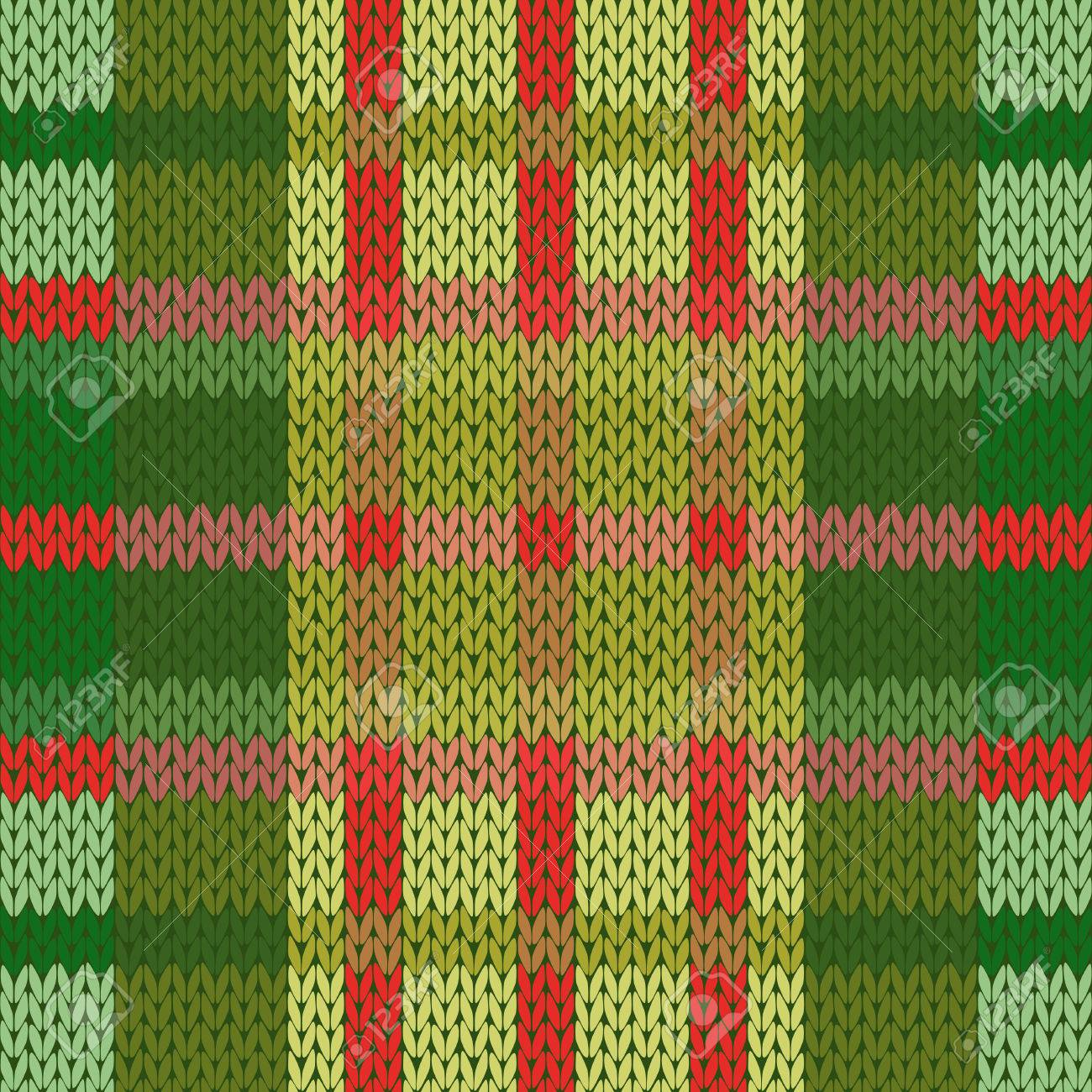 Seamless Vector Pattern As A Woollen Celtic Tartan Plaid Or A