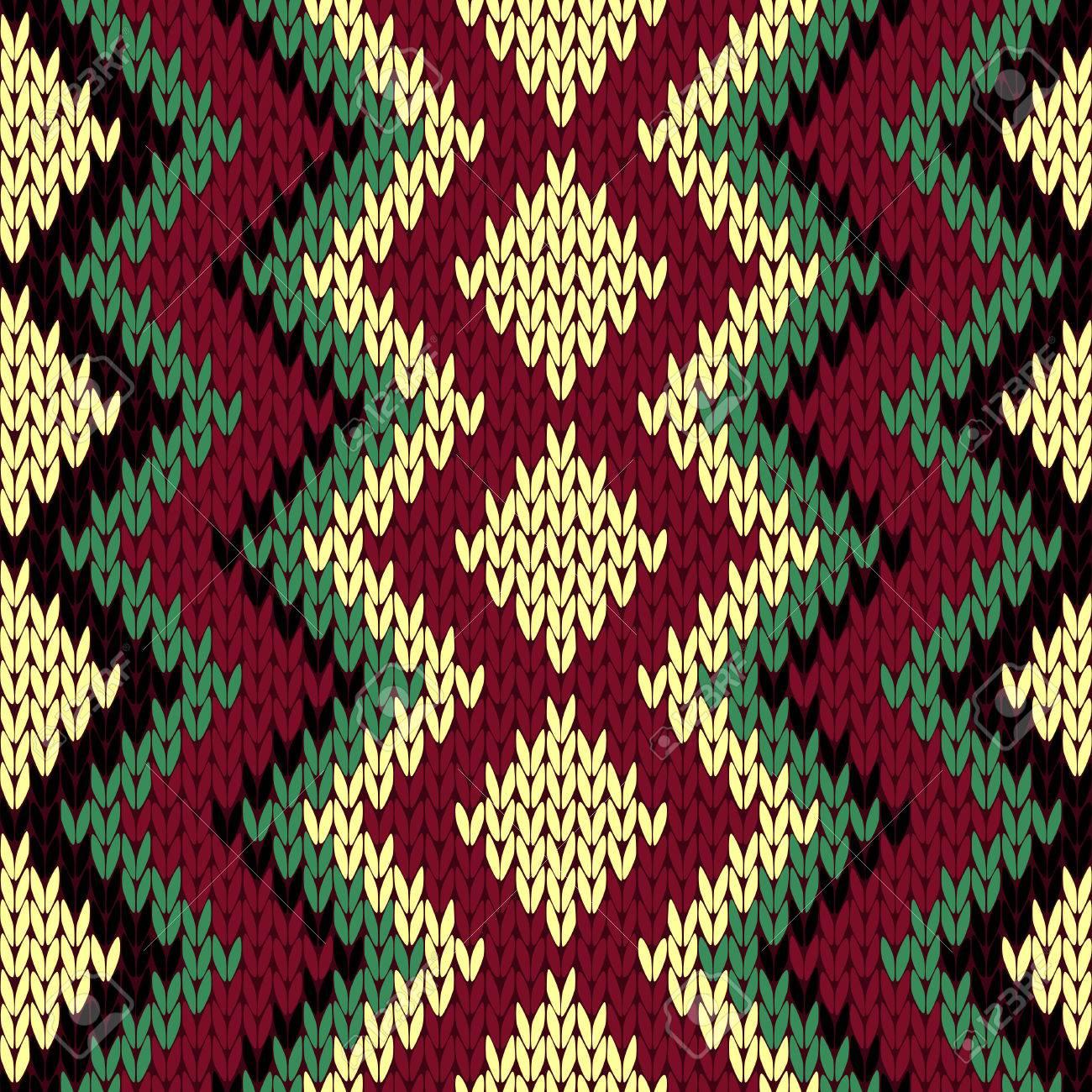 Patrón Geométrico Multicolor Vector De Tejer Sin Fisuras Con Las ...