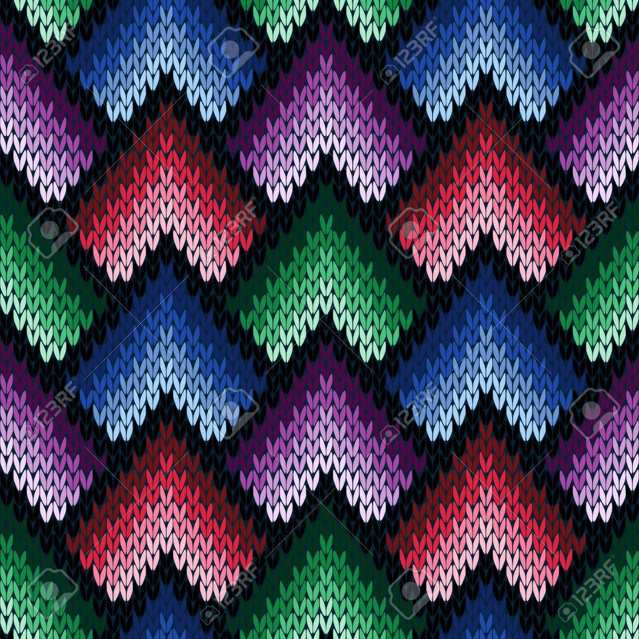 Patrón De Vector Transparente De Tejer Ornamental Abstracto Como Una ...