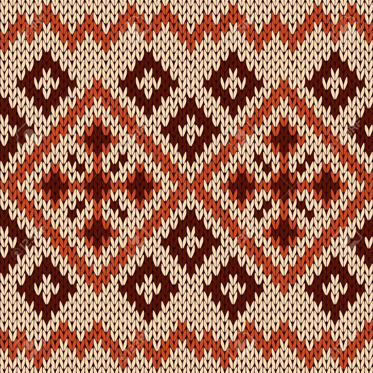 Vector Patrón Abstracto Sin Fisuras De Tejer Ornamental Con Rombos Y ...