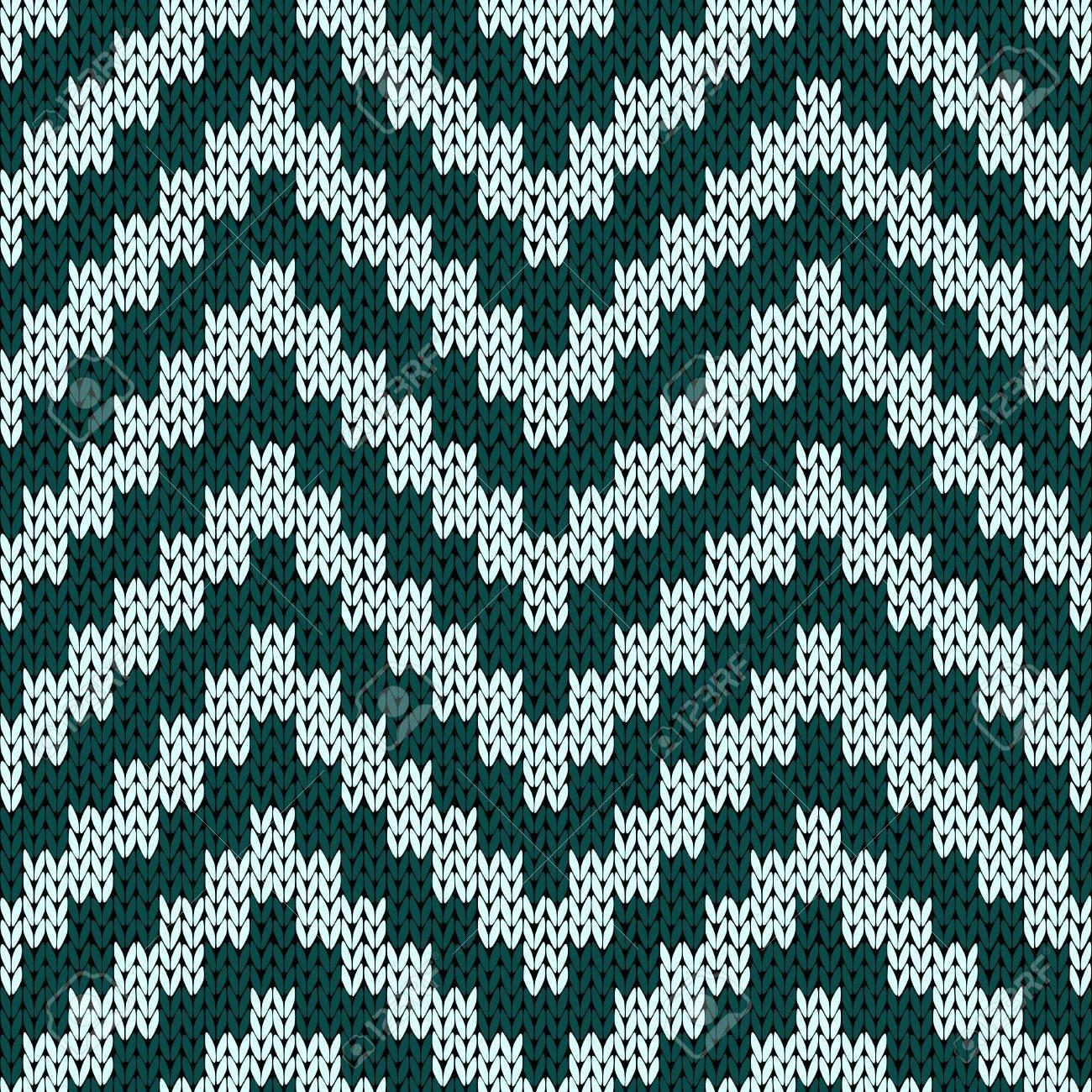 Tejer Sin Fisuras Vector Patrón De Zigzag En Tonos Apagados De Color ...