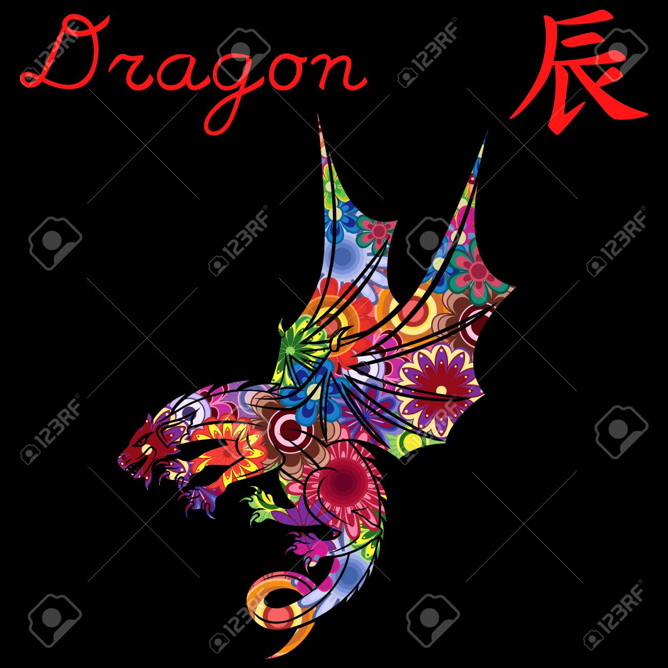 Chinese Zodiac Sign Dragon, Fixed Element Earth, symbol of New