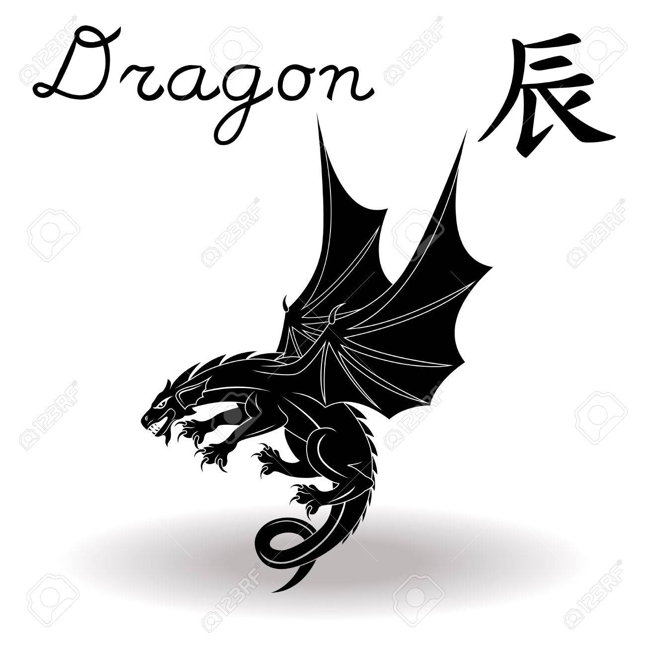 Chinese Zodiac Sign Dragon Fixed Element Earth Symbol Of New Year