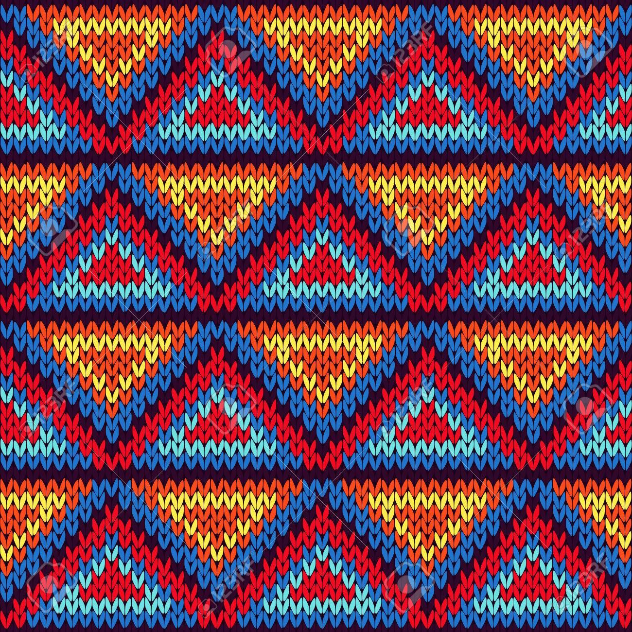 Fondo Geométrico De Punto Con El Ornamento Triángulo De Colores En ...