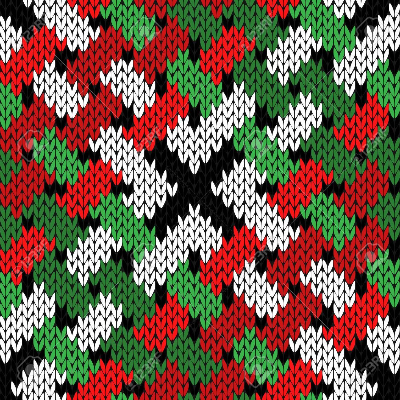 Patrón De Vector Transparente Tejido Entrelazado En Colores Verde ...