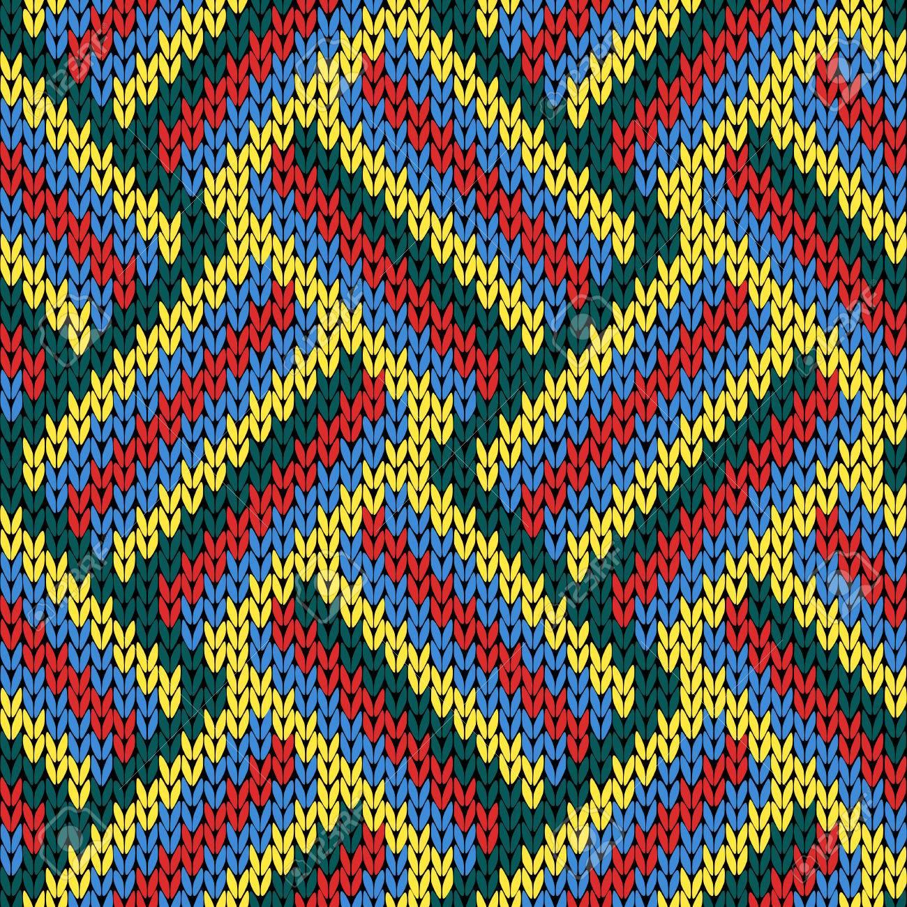 Tejer Patrón De Vector Abigarrado Transparente Como Una Textura De ...