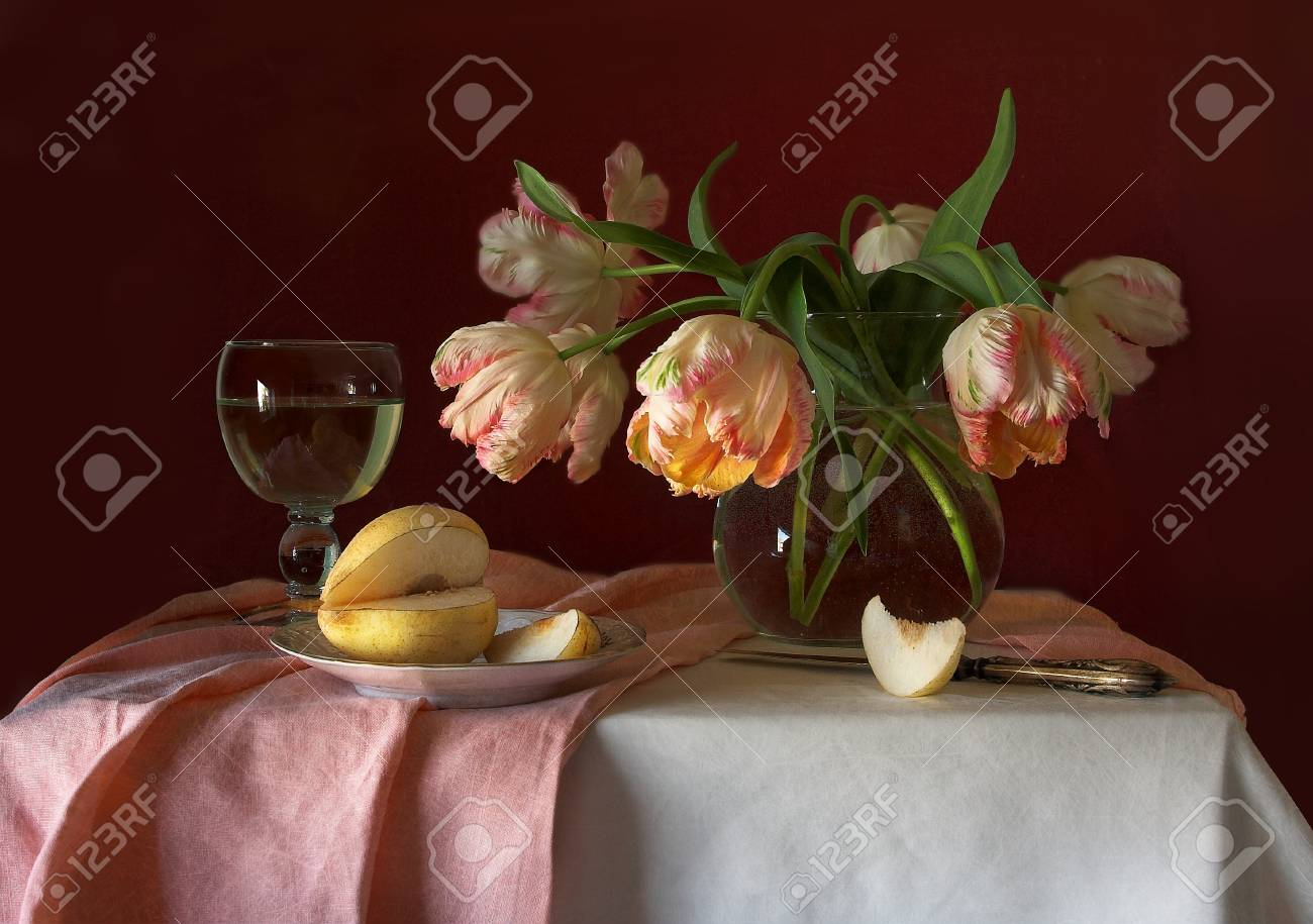 still life with tulips Stock Photo - 17702635