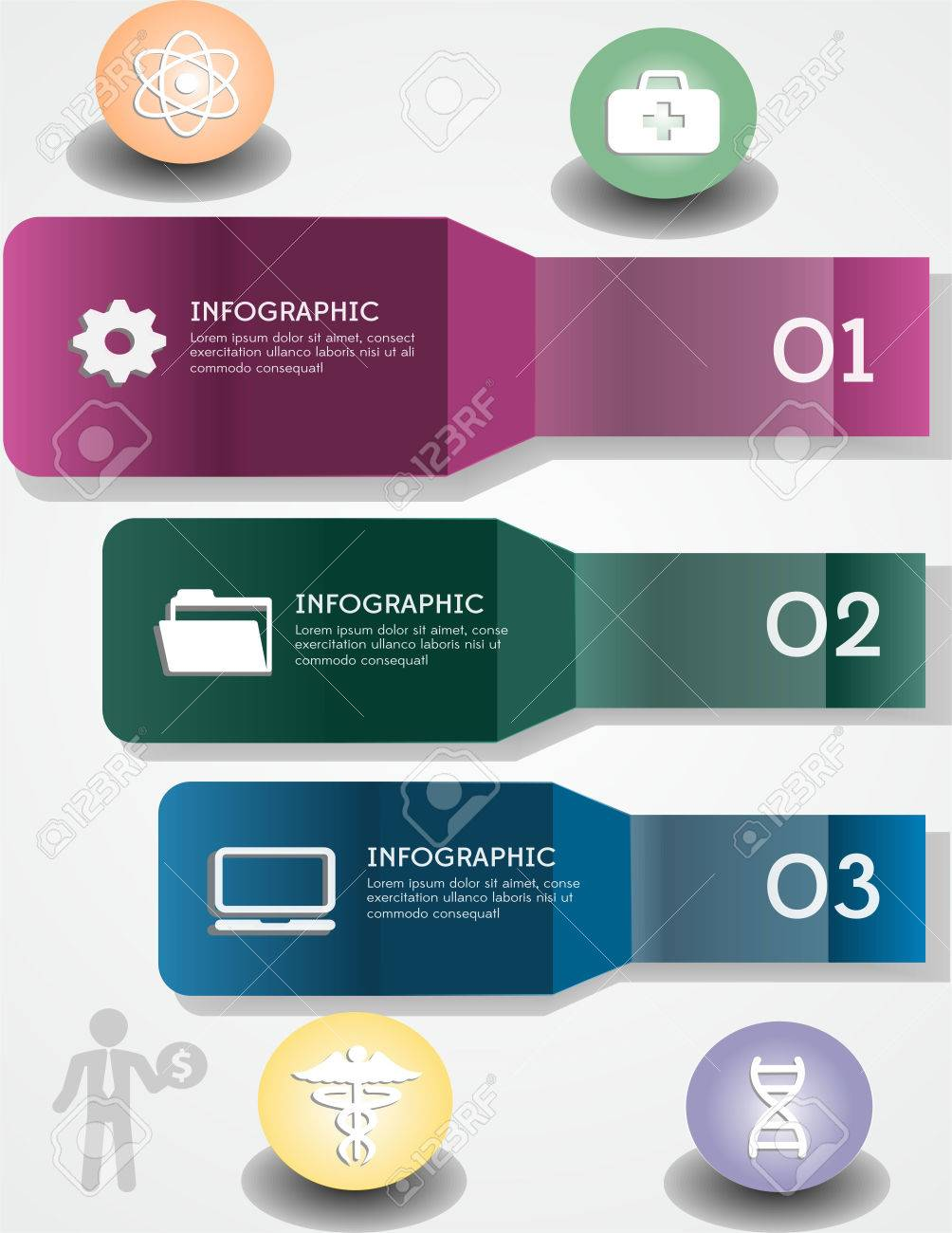 symbols info graphic science, with line green and sulfur color Stock Vector - 29839744