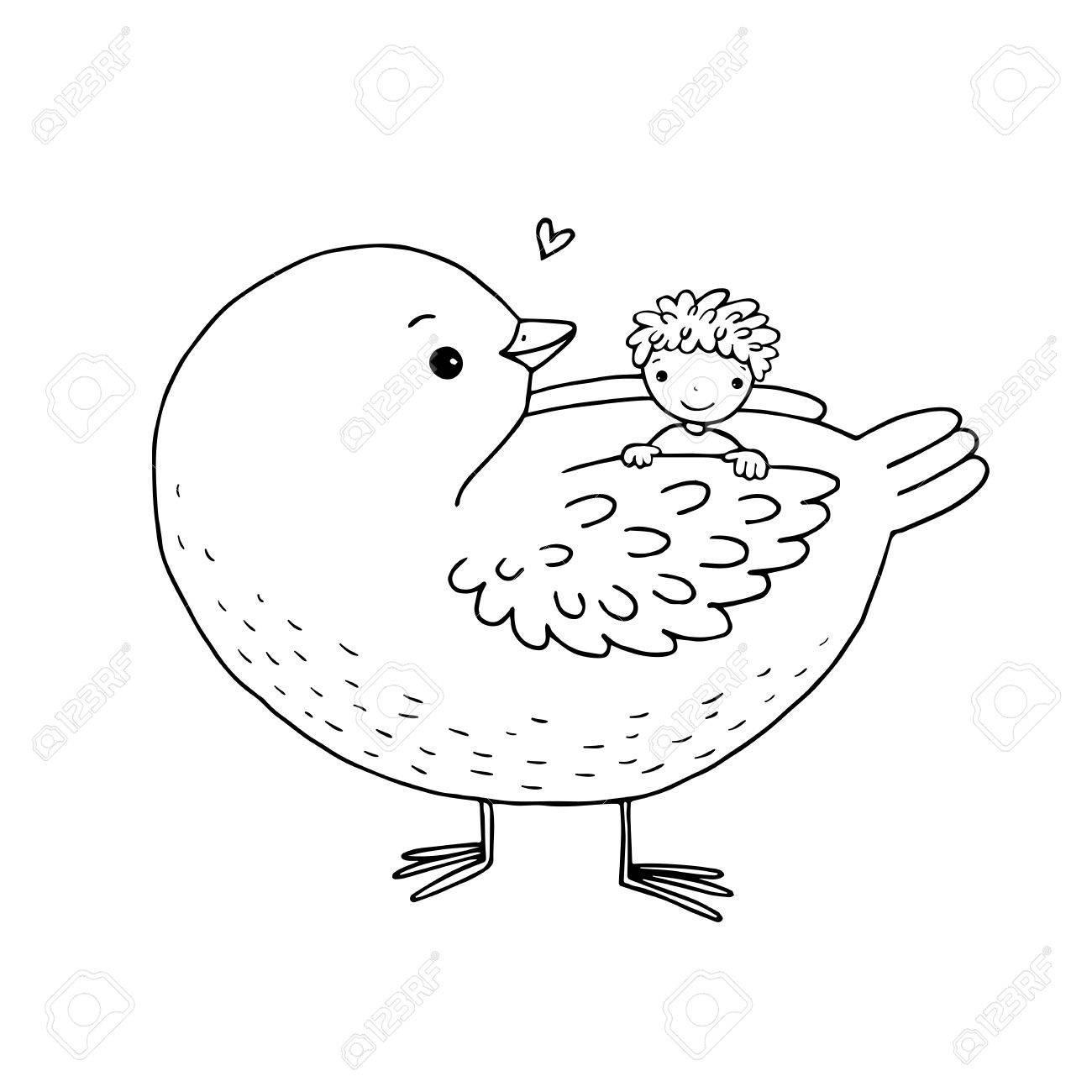 Hermosa Lindo Bebé Tweety Pájaro Para Colorear Regalo - Enmarcado ...
