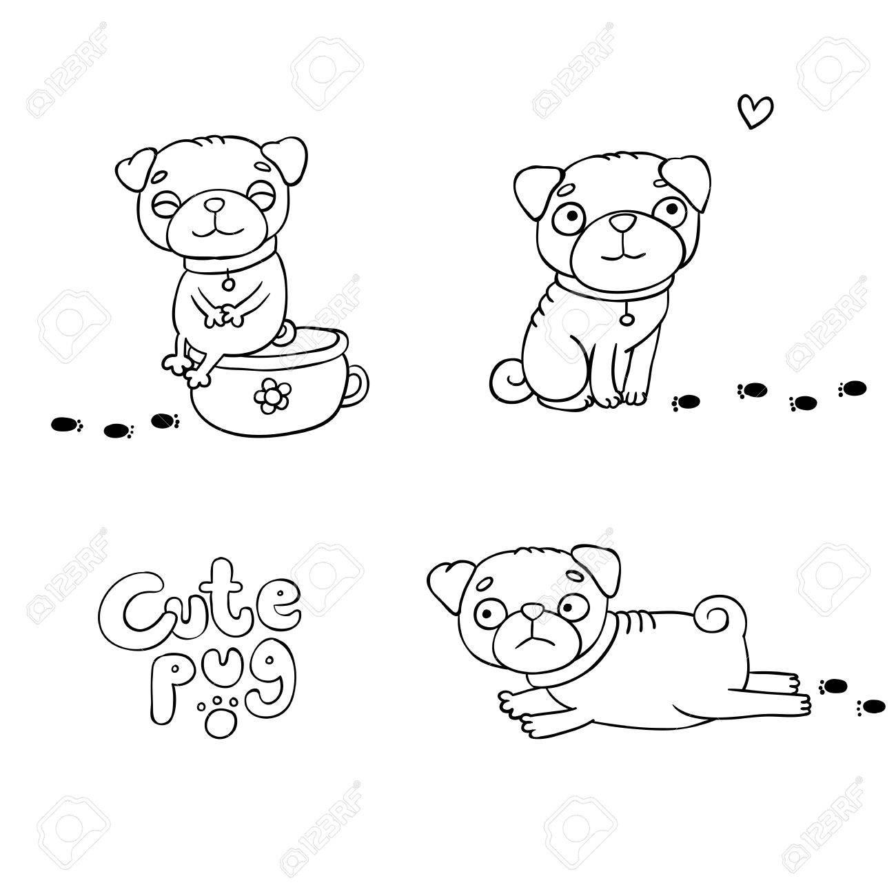 Conjunto De Pequeños Barros Amasados Animales Bonitos Perros