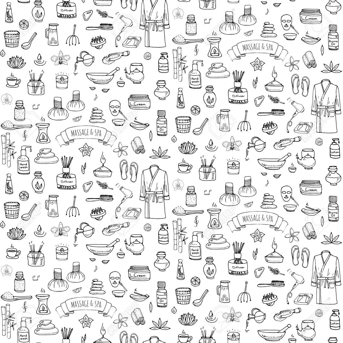 Seamless background hand drawn doodle massage and spa icons set seamless background hand drawn doodle massage and spa icons set vector illustration symbols collection cartoon beauty biocorpaavc Images