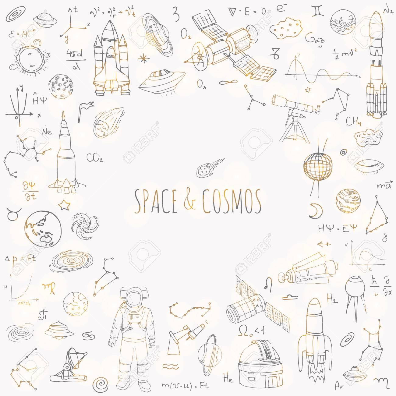 Hand drawn doodle space and cosmos set vector illustration hand drawn doodle space and cosmos set vector illustration universe icons solar system buycottarizona