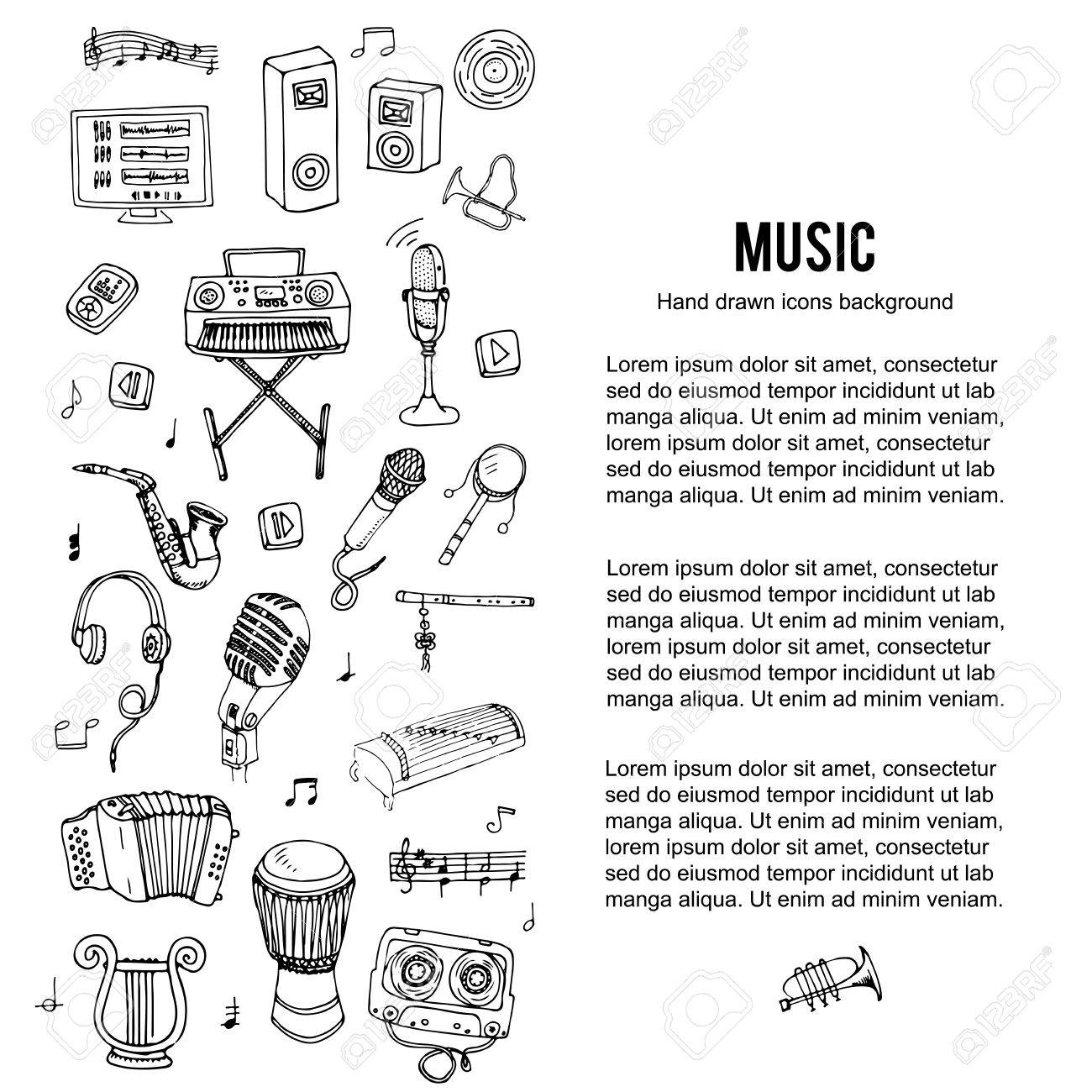 Hand drawn doodle music set vector illustration musical hand drawn doodle music set vector illustration musical instrument and symbols icons collection biocorpaavc Gallery