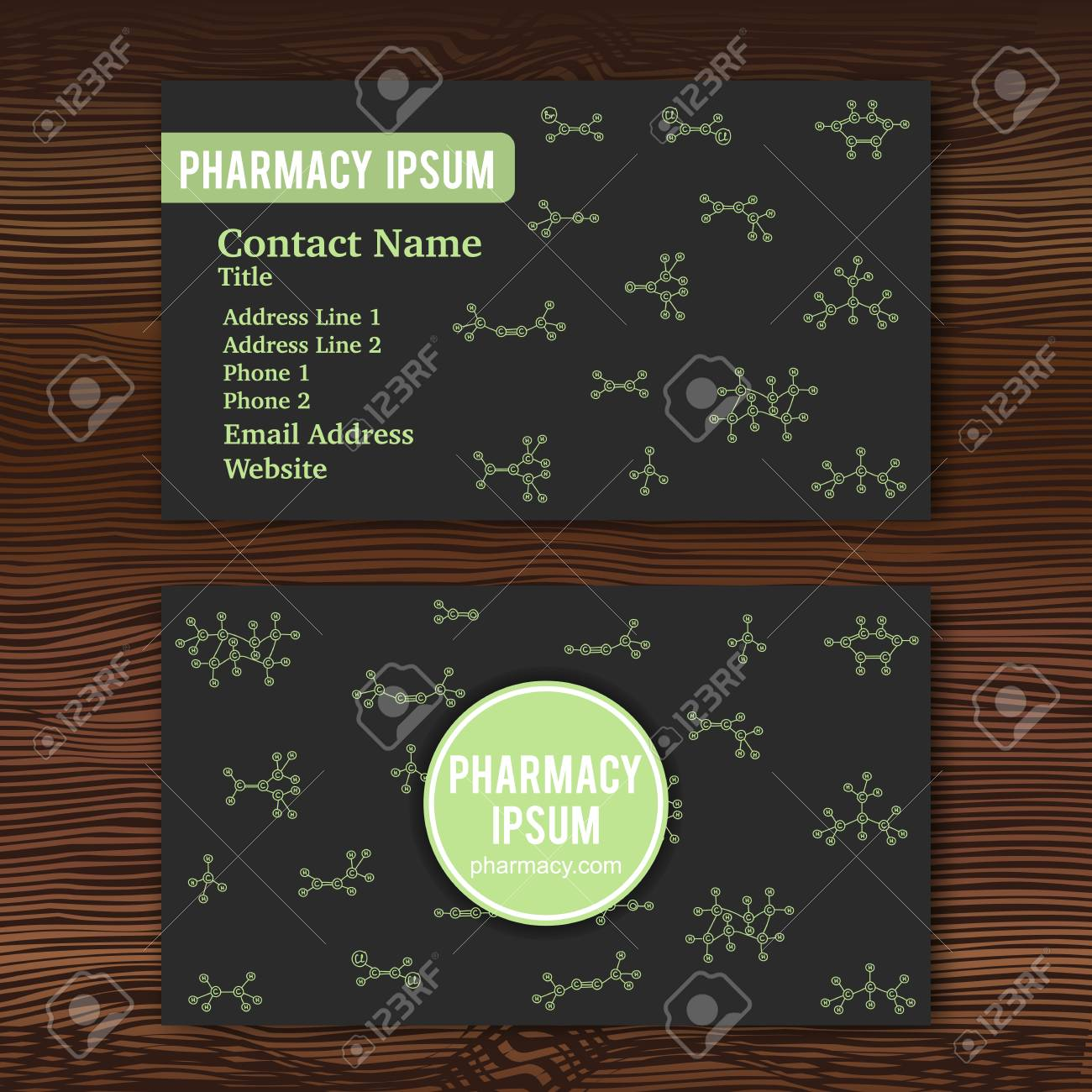 Business card template with hand drawn doodles of cartoon organic business card template with hand drawn doodles of cartoon organic chemical molecule vector illustration reheart Images