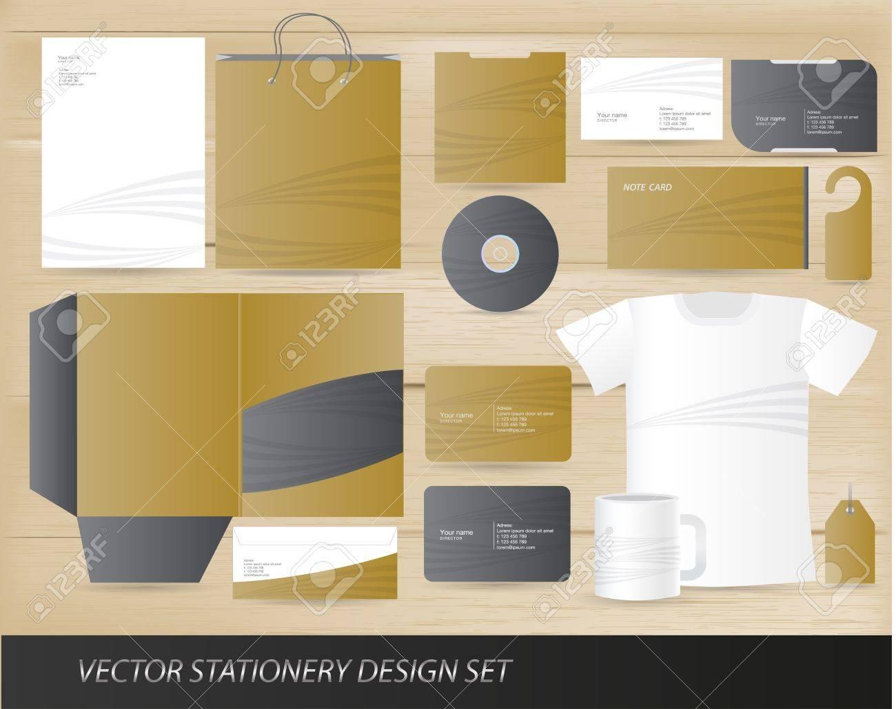 Vector stationery design set Stock Vector - 13396627
