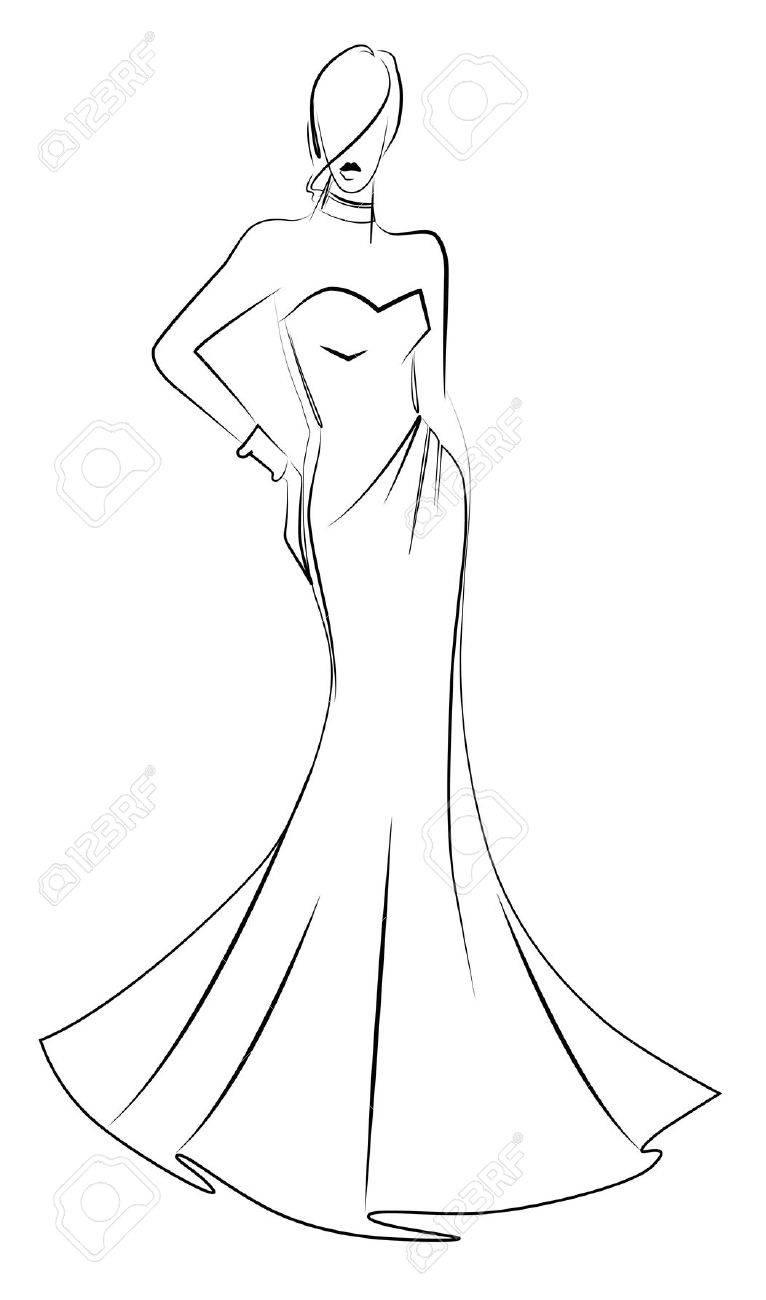 Fashion Model Illustration Royalty Free Cliparts, Vectors, And ...