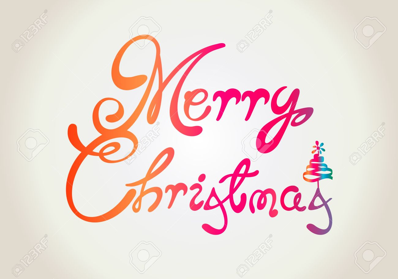 Merry Christmas text design Stock Vector - 15572848