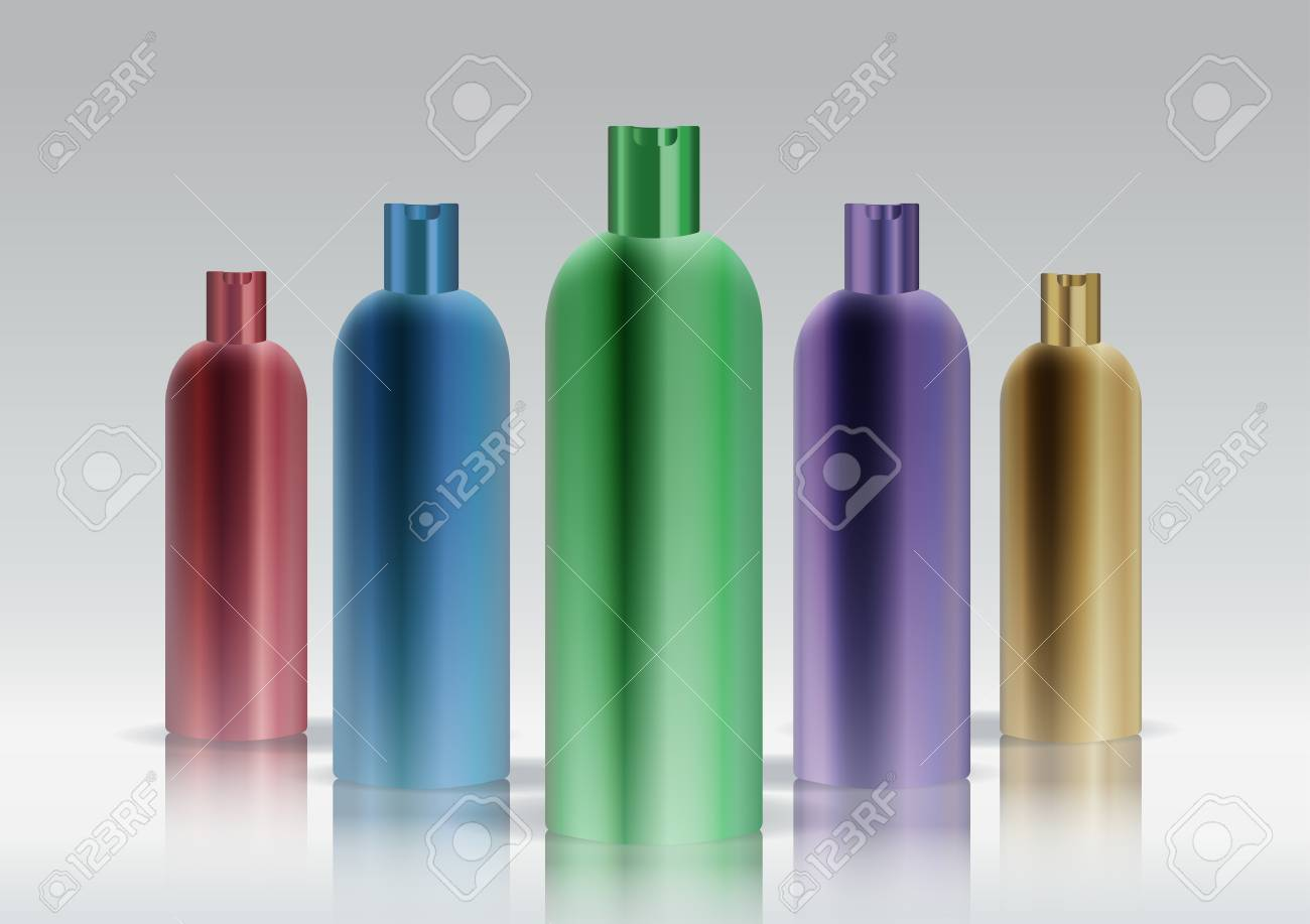 Colorful cosmetic bottle set Stock Vector - 16145711