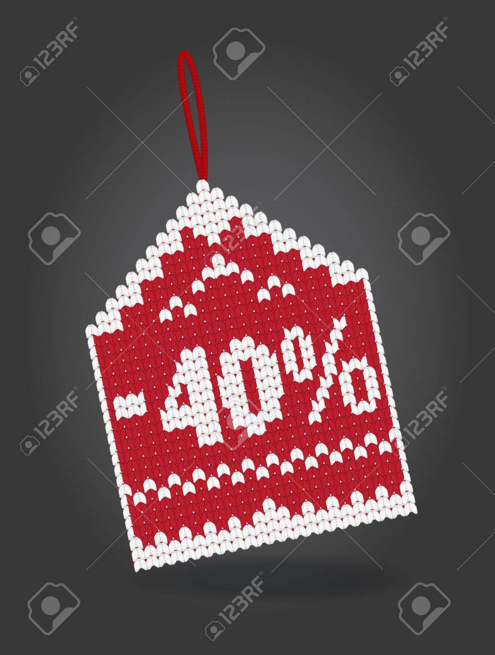 40 percent off discount price tag Stock Vector - 16480711