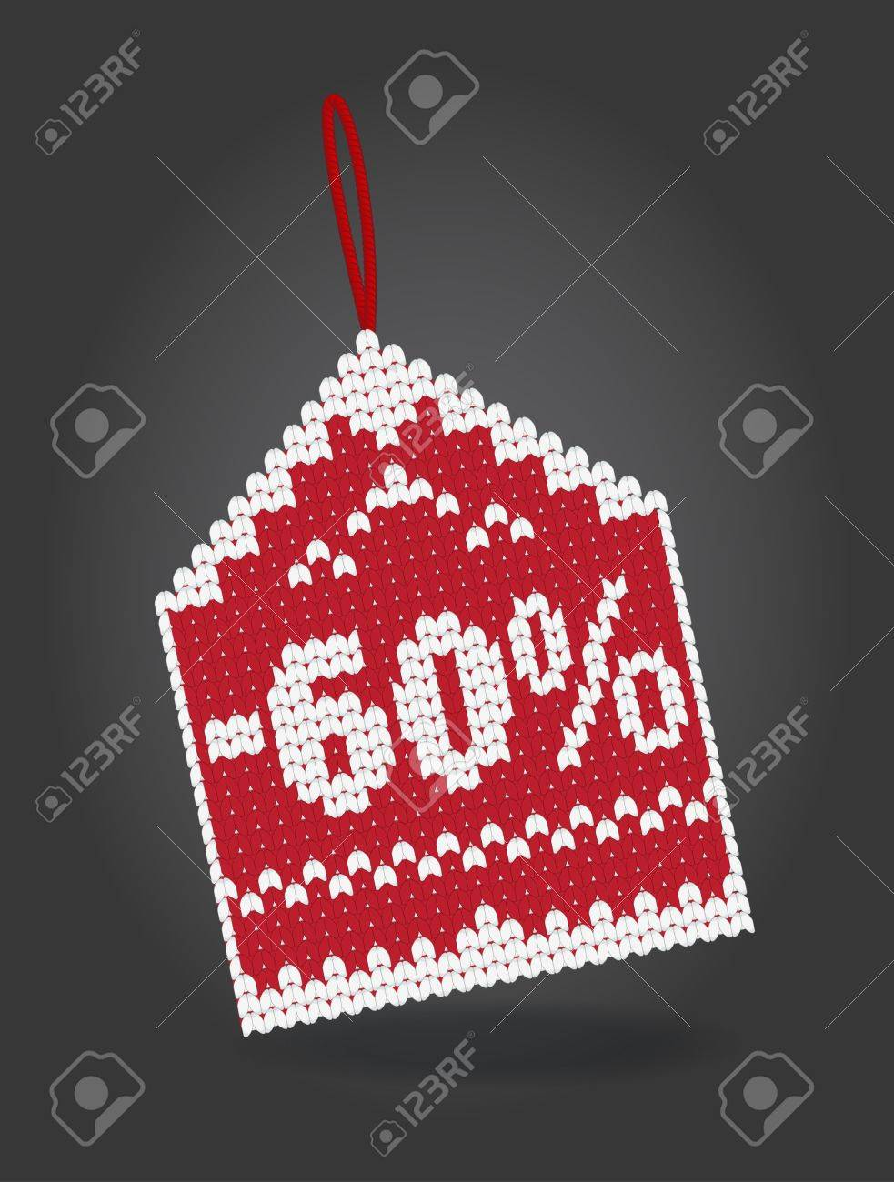 60 percent off discount price tag Stock Vector - 16480713