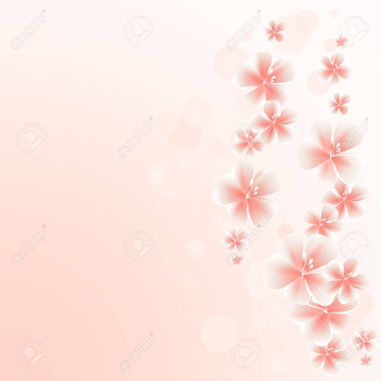 light pink peach flowers border on pink bokeh background apple tree royalty free cliparts vectors and stock illustration image 96395191 light pink peach flowers border on pink bokeh background apple tree