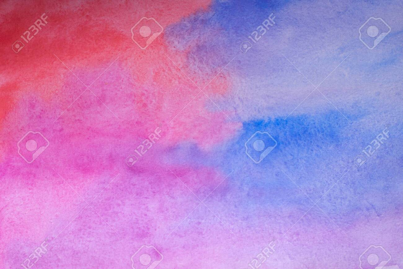 Pink and blue abstract watercolor background.Watercolor Wet Background. Hand painted watercolor background. Watercolor wash. Abstract painting. - 144423131