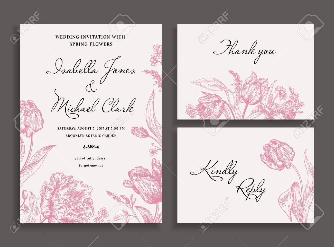 Vintage Wedding Invitation In A Rustic Style. Leather Leaf Fern ...