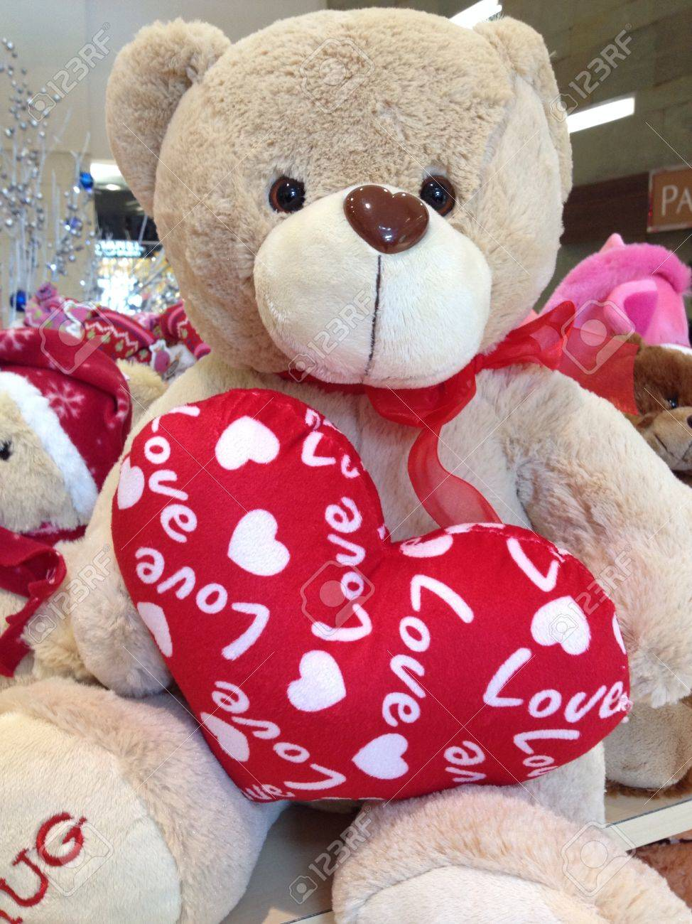 Stock Photo - Teddy bear as valentines gift