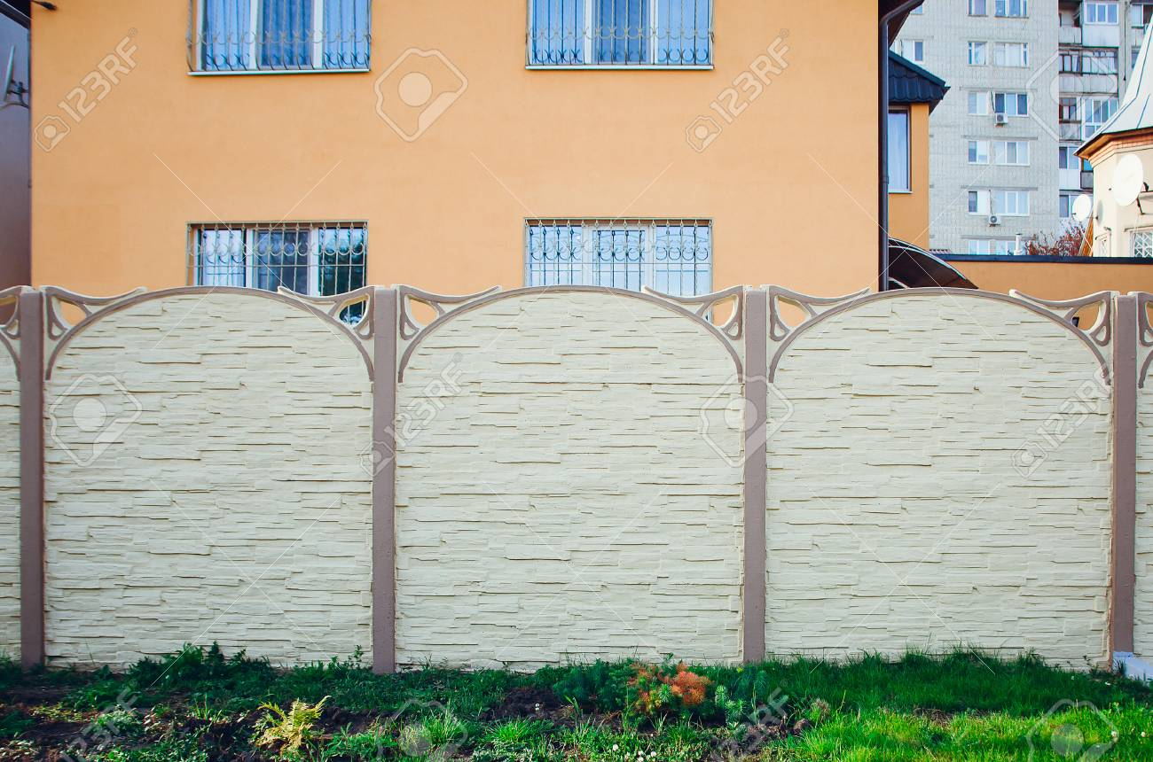 Schoner Konkreter Zaun Von Modernen Art Design Zaun Ideen