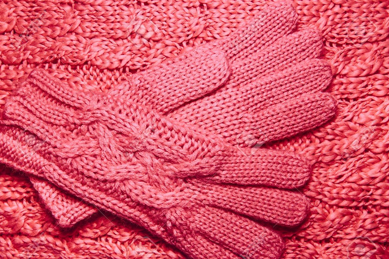 28556fe6138 Stock Photo - Wool sweater or scarf and gloves texture close up. Knitted  jersey background with a relief pattern. Braids in machine knitting  pattern. Wool ...