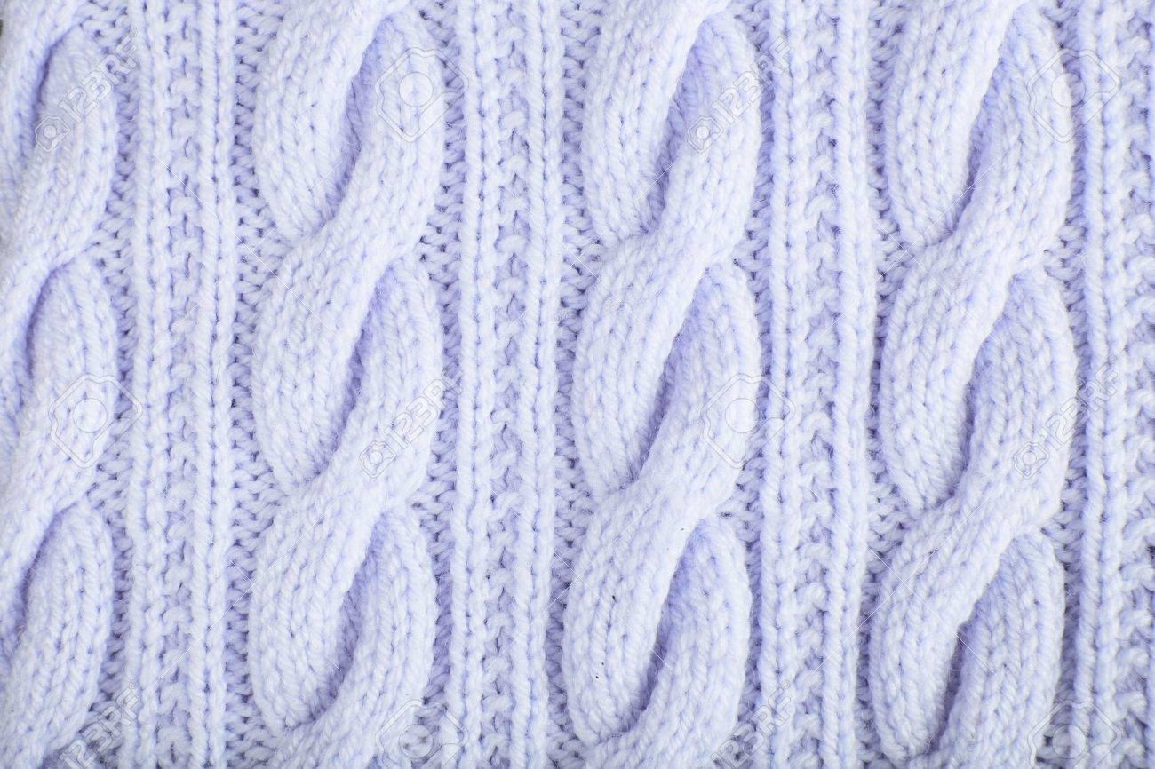 Suéter O Una Bufanda Textura Grande De Tejer. Fondo Jersey De Punto ...