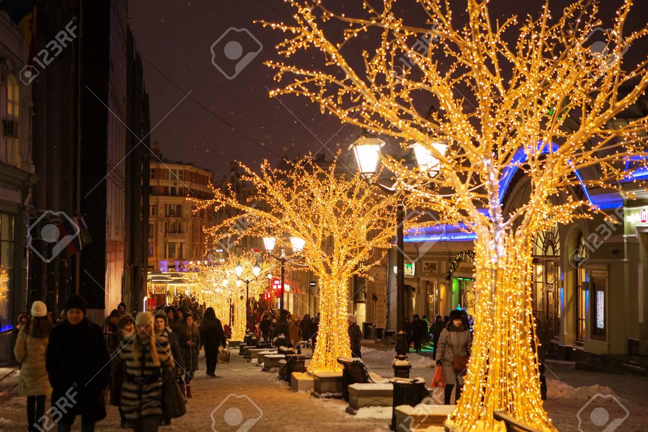 Decorazioni Sala Capodanno : Mosca gennaio bello natale e capodanno decorazioni nel