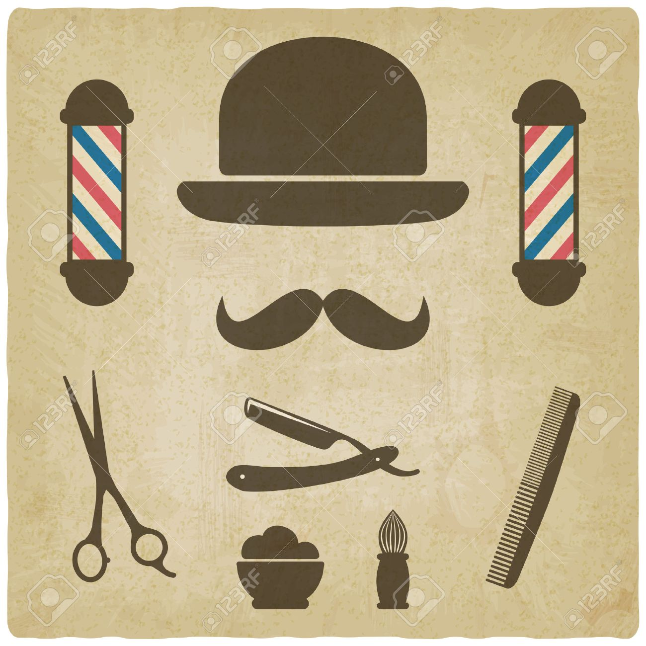 barber old background Stock Vector - 27786709