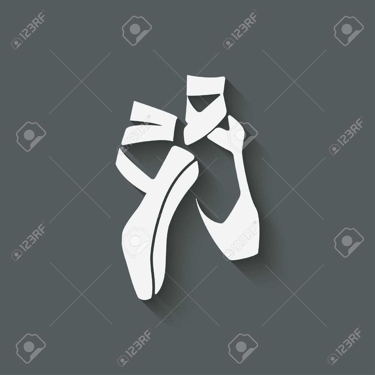 ballet dance studio symbol - vector illustration. eps 10 - 34737857