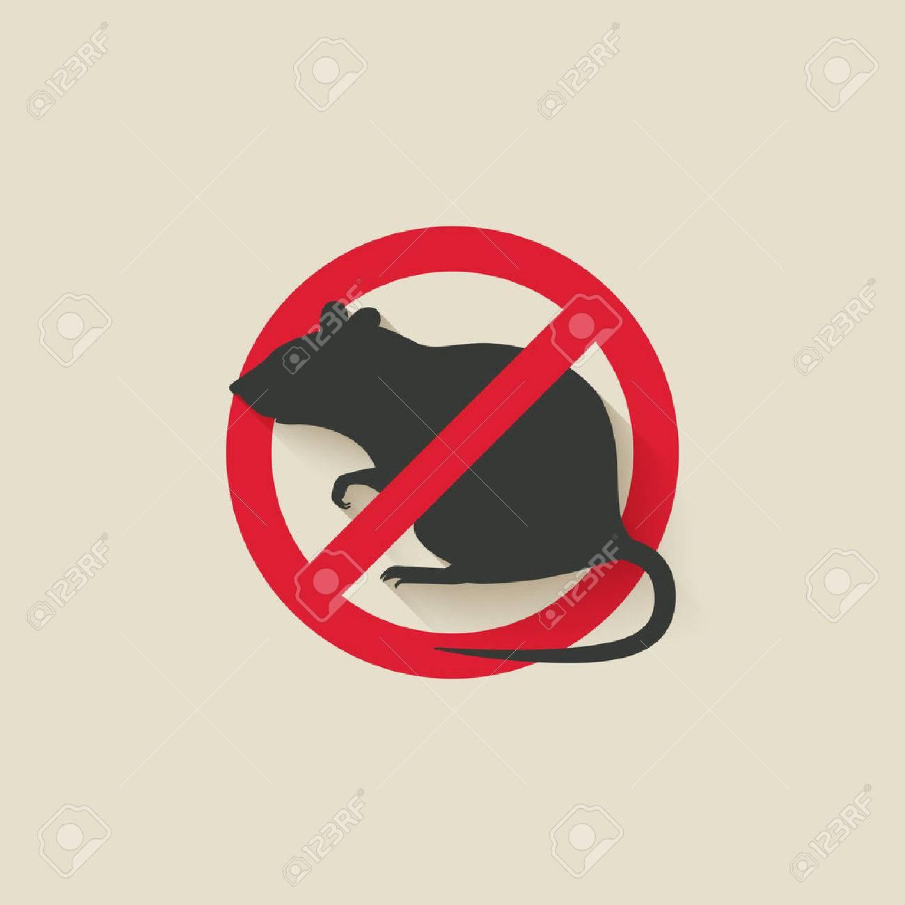 rat warning sign. vector illustration - eps 10 - 52068781