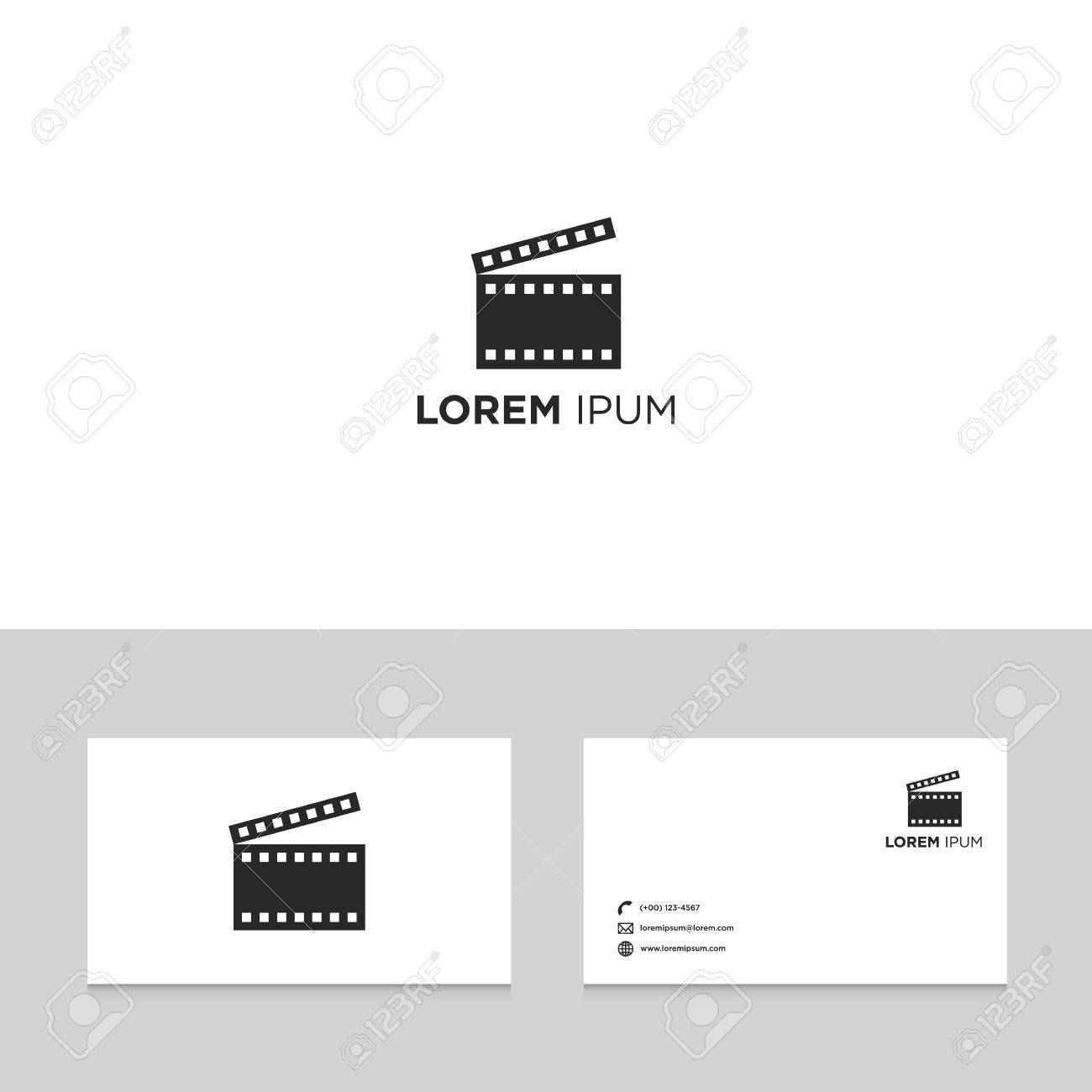 Logo Design Elements With Business Card Template, Film Movie ...