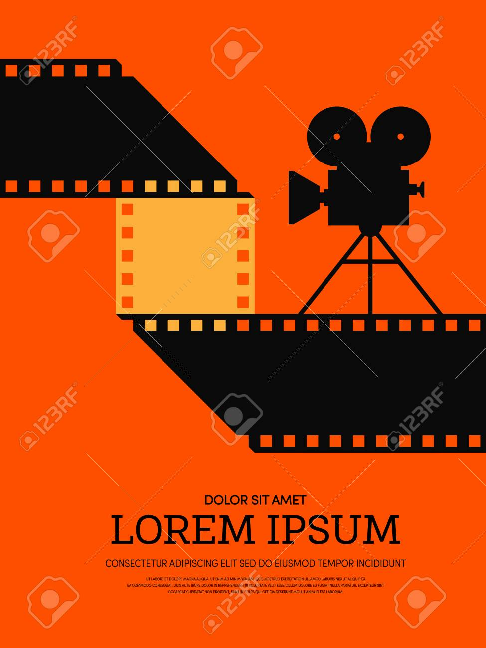 Movie and film modern retro vintage poster background. Design element  template can be used of