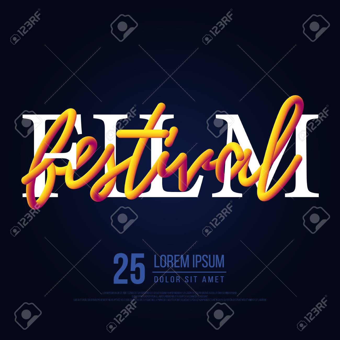 Movie And Film Festival Modern Typography Poster Background