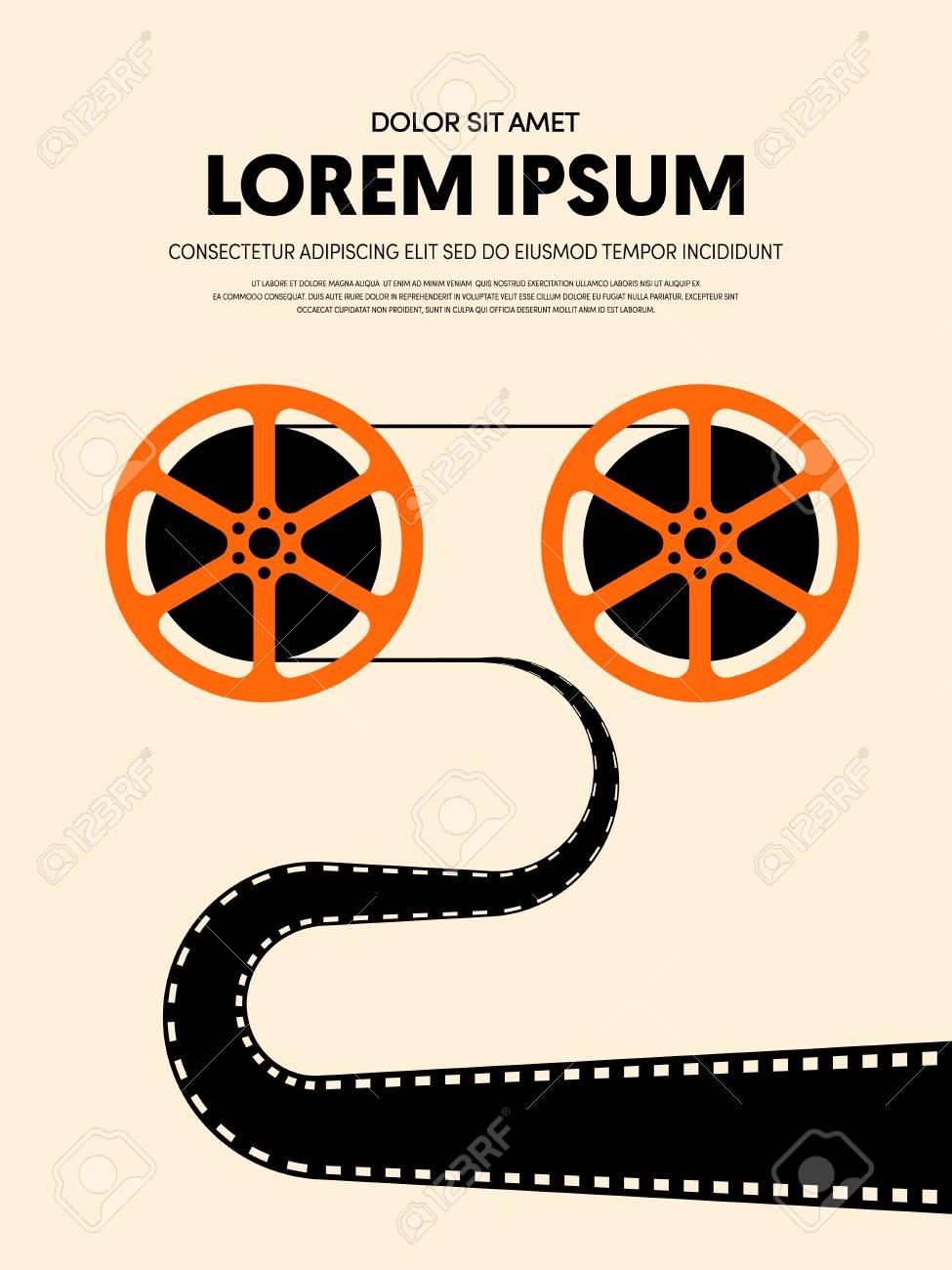 Movie And Film Modern Retro Vintage Poster Background Design